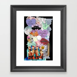 Miscellaneous - Abstract, Tumblr, Transparent, Stickers Framed Art Print