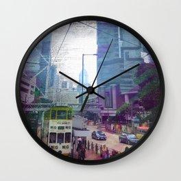 Streets of Hong Kong Wall Clock