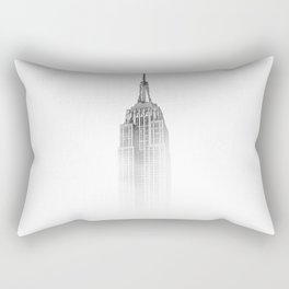 Wistful monochrome Empire State Building Rectangular Pillow