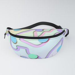 Unique Pastel Design with Squiggles and Dots! Fanny Pack