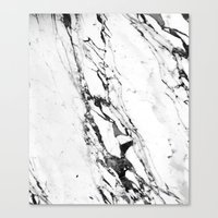 marble Canvas Prints featuring Marble by Judith Abbott