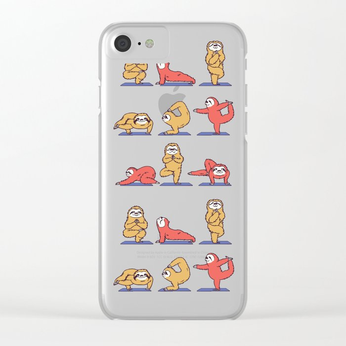 Sloth Yoga Clear iPhone Case