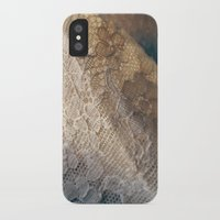 lace iPhone & iPod Cases featuring lace by messy bed studio