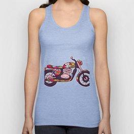 Motorcycle hippie bikers Unisex Tank Top