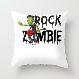 Zombie Guitar Undead Halloween Music for Rock Fans Light Throw Pillow