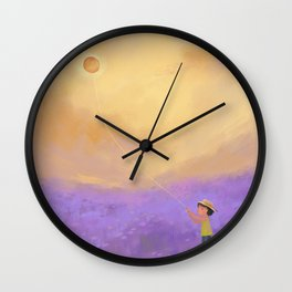 The Sun on a String Wall Clock