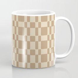 Retro 1950's Stitch Fabric Pattern Tan Coffee Mug