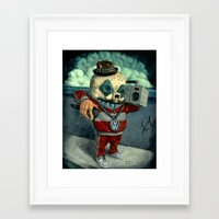 beastie boys Framed Art Prints featuring Beastie Calavera. by Jonathan  Bergeron