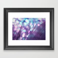 Feather Sparkles II Framed Art Print