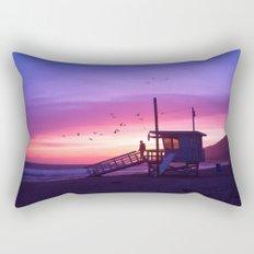 Sunset Tower Rectangular Pillow