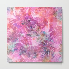 Motuu Tropical in Pink Metal Print