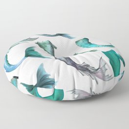 Mermaid Tails (Color) Floor Pillow