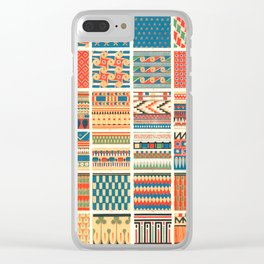 Egyptian Designs from Vintage Pattern Book Clear iPhone Case