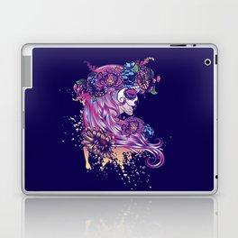 Purple sugar skull Laptop & iPad Skin