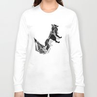 literature Long Sleeve T-shirts featuring literature fox 1 by vasodelirium