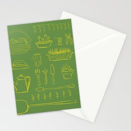 Gardening and Farming! - illustration pattern Stationery Cards