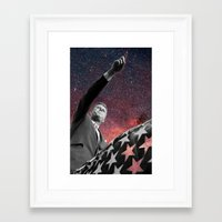 onward Framed Art Prints featuring ONWARD by Steven Macherey Designs
