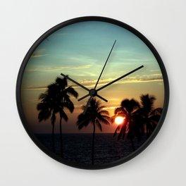 Sunset at Mauna Kea Beach, Hawaii Sky Wall Clock