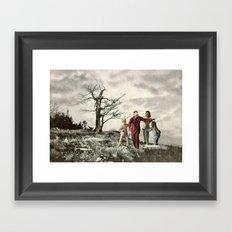 Let's Surprise Daddy Framed Art Print