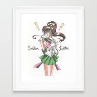 sailor jupiter Framed Art Prints featuring Sailor Jupiter by Jetachi