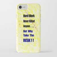 work hard iPhone & iPod Cases featuring Hard Work by Brian Raggatt