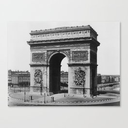 Arc de Triomphe - Vintage Paris - Circa 1860 Canvas Print