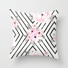 Blush Roses Mod Throw Pillow