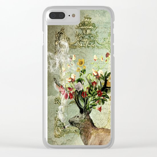 Happy Elk Clear iPhone Case
