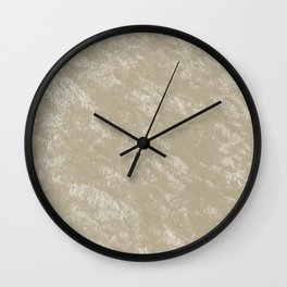 White gold velvet Wall Clock