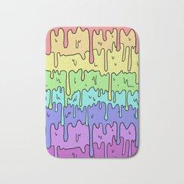 Pastel Kawaii Melting Rainbow Design Bath Mat