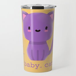 Cute Baby cat | purple cats | kids Kitty Travel Mug