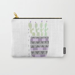 Potted Patterned Cacti Carry-All Pouch