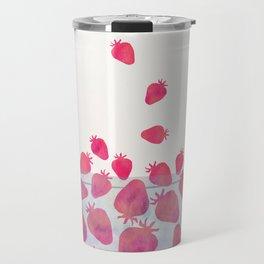 Magic Strawberries in the Bowl Travel Mug