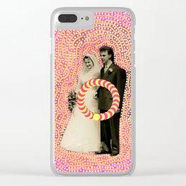 Run Bride Run Clear iPhone Case