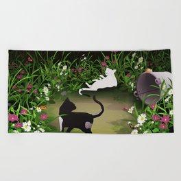 Secret Garden Beach Towel
