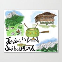 Fondue in Switzerland Canvas Print