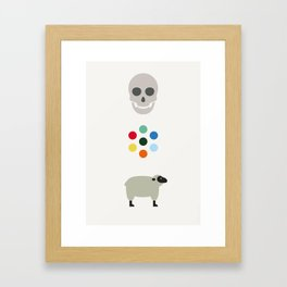 Iconic Painters: Damien Hirst Framed Art Print