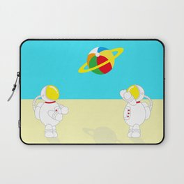 Space Odyssey   Astronaut Beach   Beach Ball   Summer   Sea   Seaside   Ocean   pulp of wood Laptop Sleeve