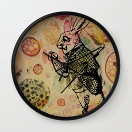 "Rabbit, ""I'm Late!"" Wall Clock"