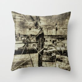 Thames Sailing Barges Vintage Throw Pillow