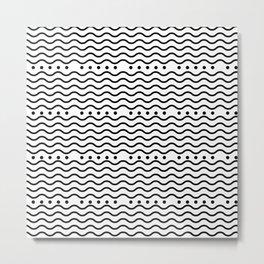 Waves + dots Metal Print