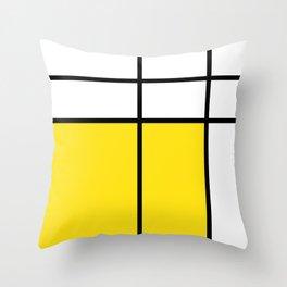 mondrian, piet mondrian, mondrian pattern, mondrian composition, yellow, Throw Pillow