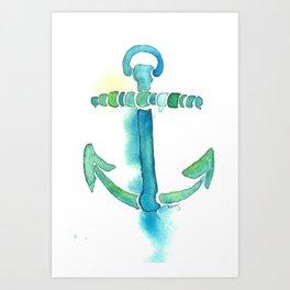 Watercolor Anchor Art Print