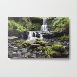 Blaen-y-glyn Waterfall 5 Metal Print