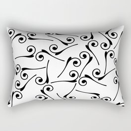 Back ornaments white background Rectangular Pillow