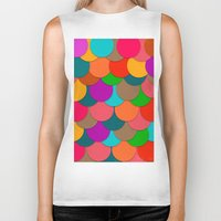 circles Biker Tanks featuring Circles.  by Eleaxart