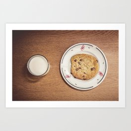 Milk & Cookies Art Print