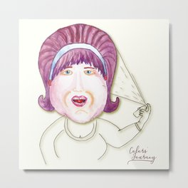Edna, the hairstylist Metal Print