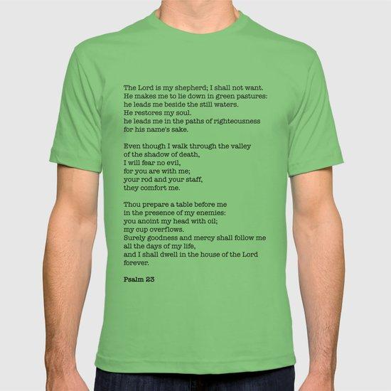 Psalm 23 Bible Verse Print - The LORD is my shepherd T-shirt