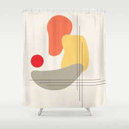 Geometrical Judgement #geometry #shapes #artwork Shower Curtain